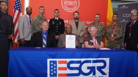 Comcast SVP for Military and Veteran Affairs Visits New Mexico to Pledge Support for the Military Community