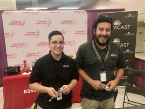 Axel and fellow technician, Diana Olivias, were all smiles during the Discovery Festival back in November.