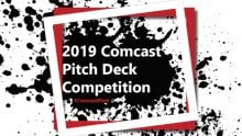 2019 Comcast Pitch Deck Competition poster.