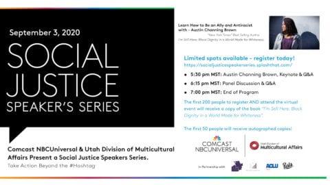 Social Justice Speaker Series promotional card